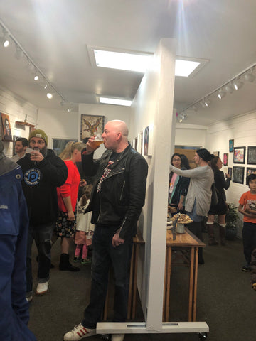 People Viewing Art at ZB Gallery