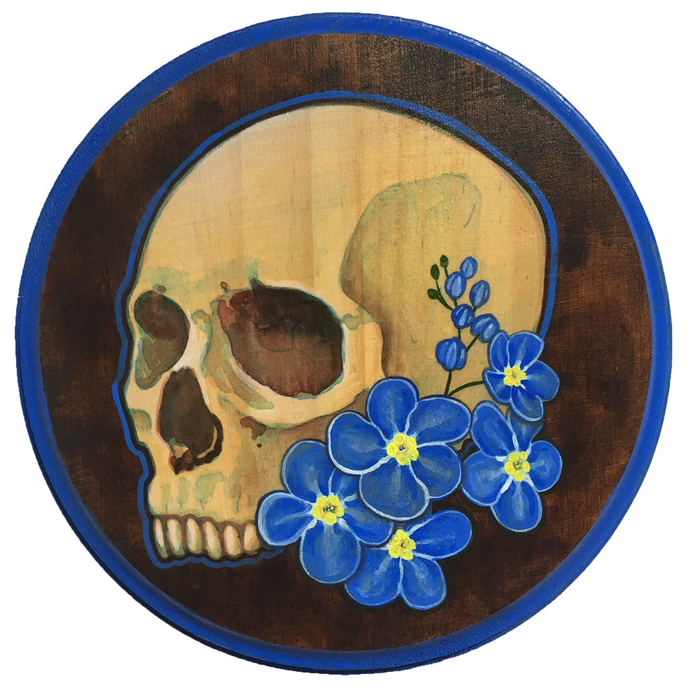 "Caitlynn Abdow ""Forget Me Not"" Skull & Flowers"