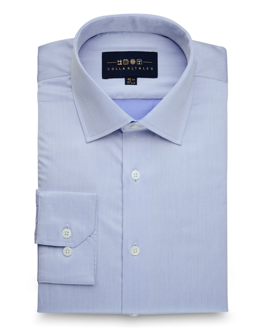 Fine Twill Blue Shirt  40 & 42 ONLY)