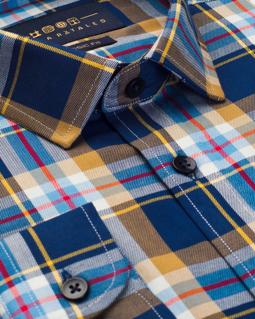 Multi Check Twill Shirt (44 Slim and 46 Regular Only)