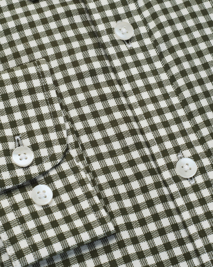 Olive Gingham Twill Shirt (44 & 46 Reg Only)
