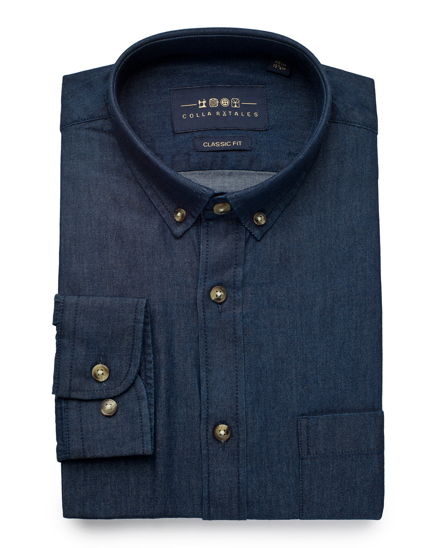 Lightweight Denim Shirt - Dark Indigo