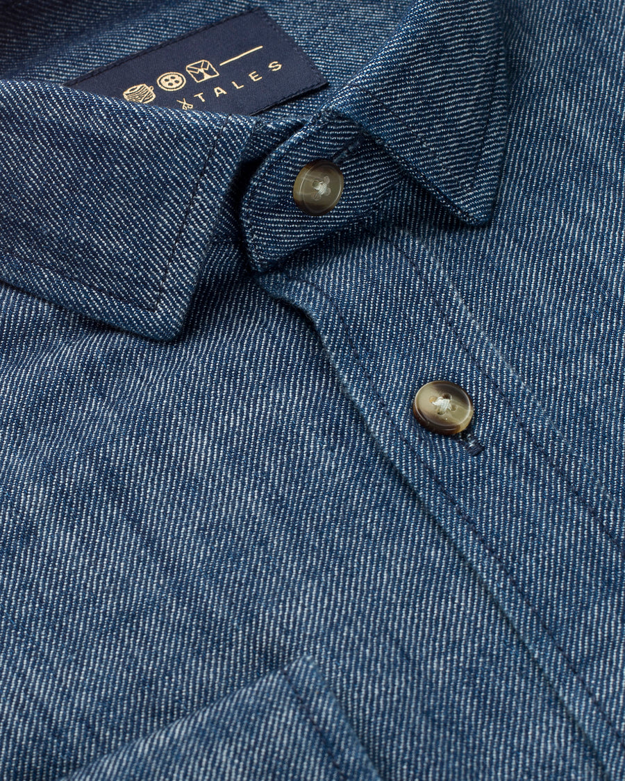 Lightweight Twill Denim Shirt