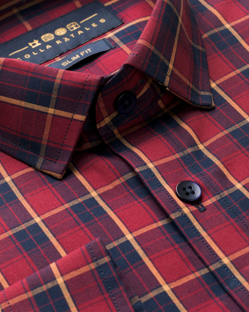 Scottish Tartan Plaid Shirt ( 40 Regular Only)