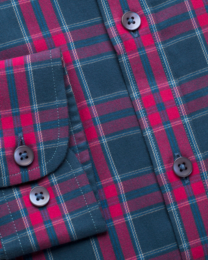 Pink and Blue Plaid Shirt ( 40 Slim Only )