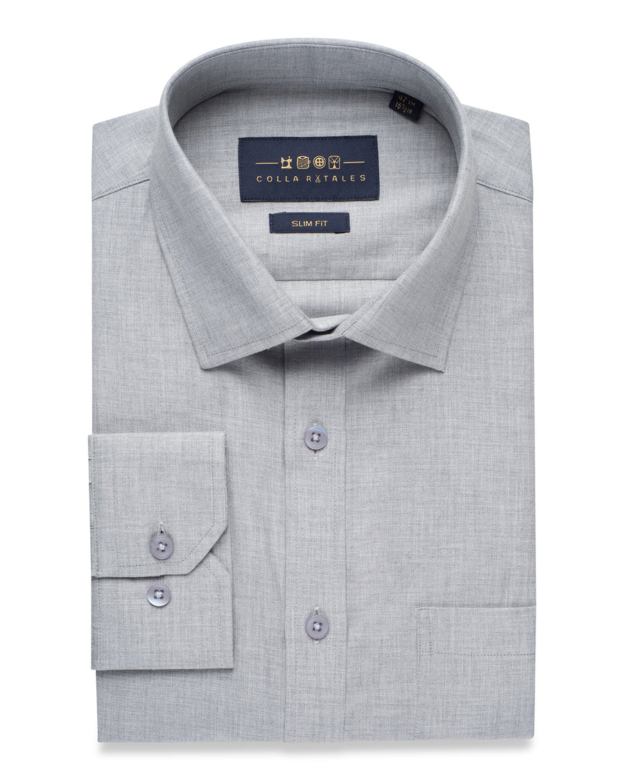GREY CASUAL OXFORD SHIRT
