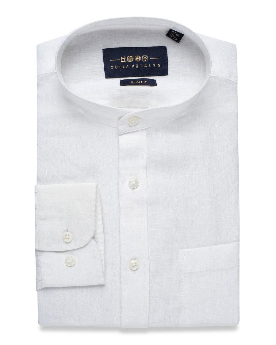 PRUSSIAN WHITE LINEN SHIRT