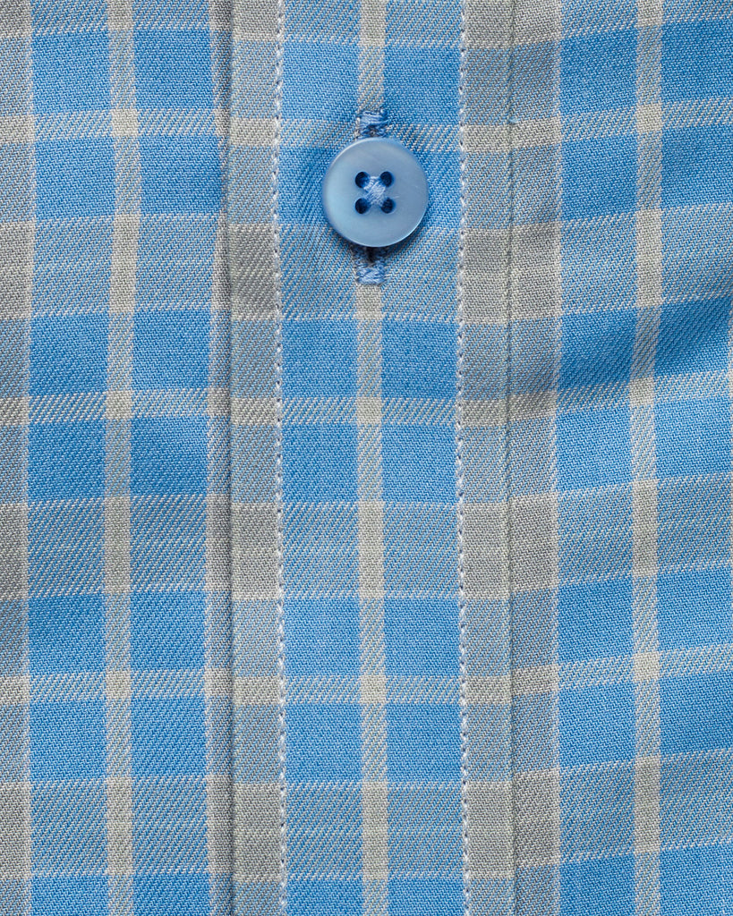 Light Blue and Grey Oxford Button Down Shirt ( 42 Regular Only )