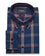 Blue Plaid Button Down Slim Fit Shirt ( 40, 42 & 44 Regular Only )