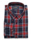 Red & Navy Plaid Button Down Slim Fit Shirt ( M, L & XL ONLY )
