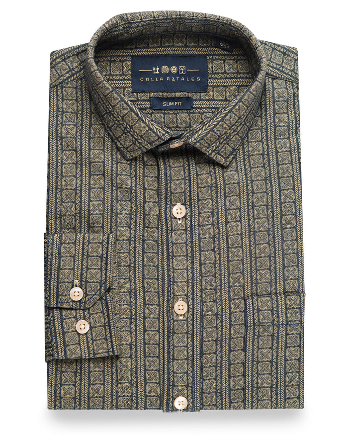 Parkvale Print Casual Shirt ( 39 Slim & 46 Regular Only )