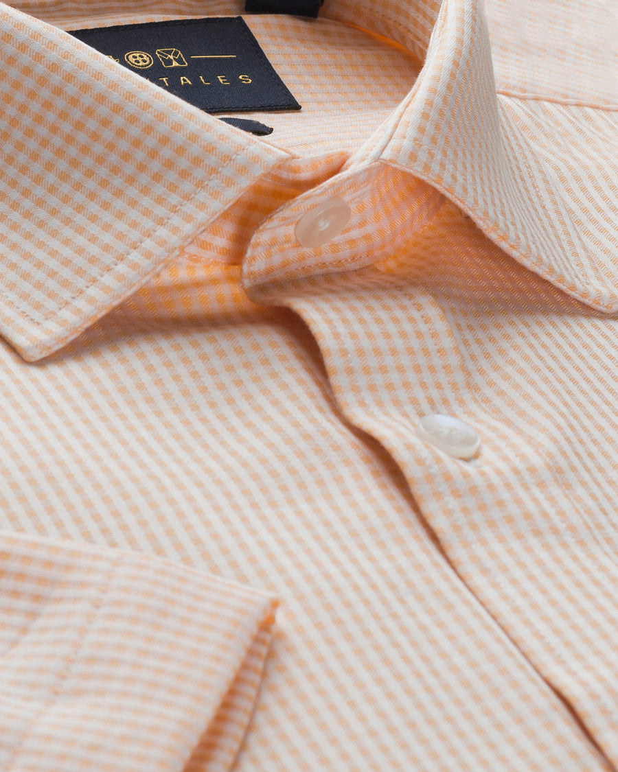 Cotton Half Sleeve Shirt - Salmon
