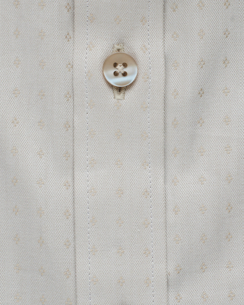 Cotton Half Sleeve Shirt - Beige ( 42 Slim and 44 Regular Only )