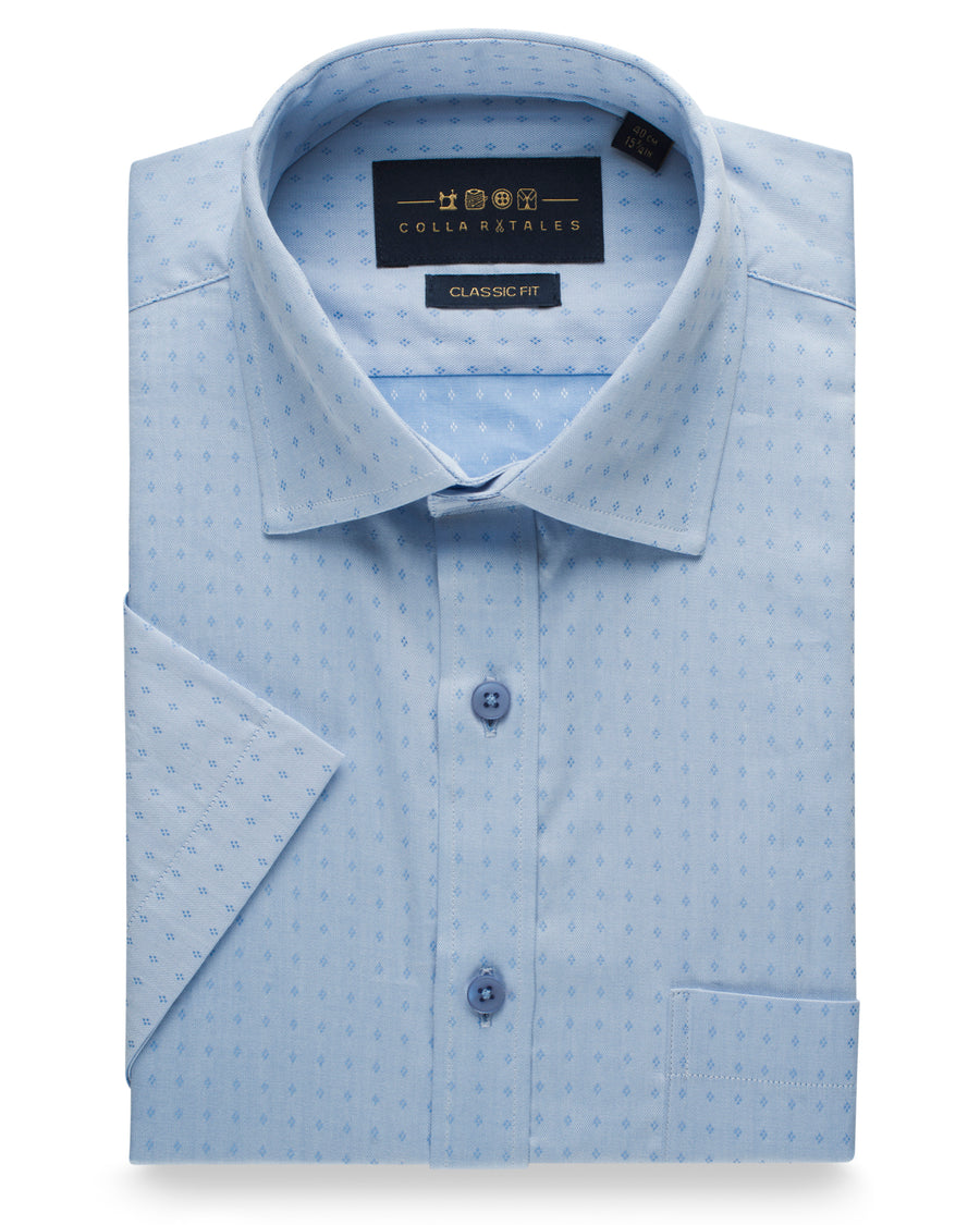 Cotton Half Sleeve Shirt - Light Blue