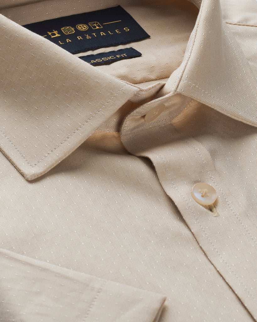 Cotton Half Sleeve Shirt - Khakhi