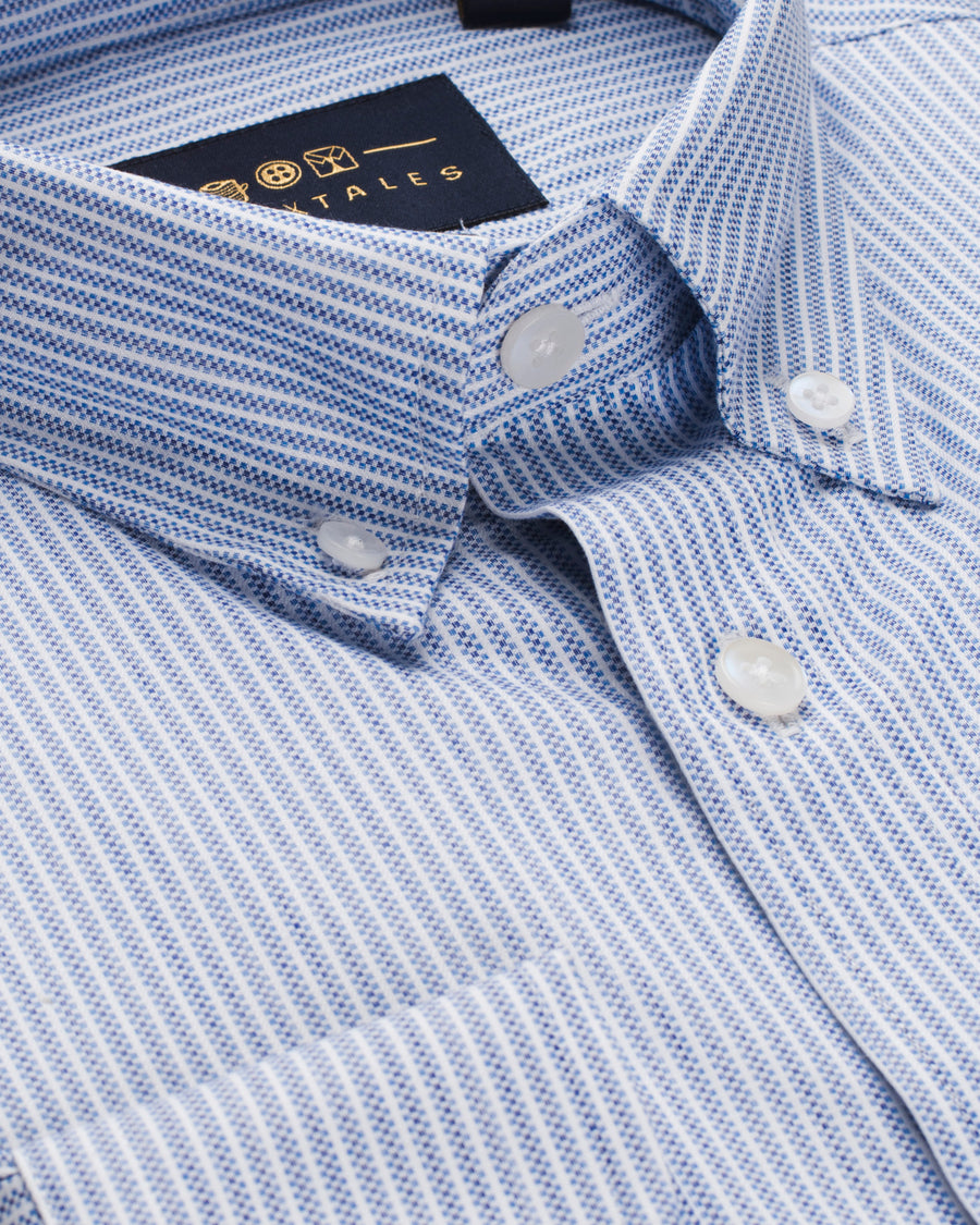 Classic Oxford Stripe Shirt - Blue/White