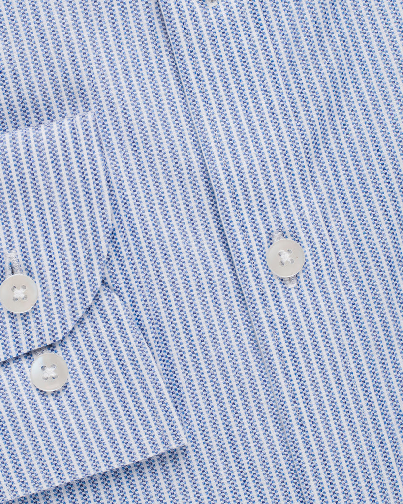 Classic Oxford Stripe Shirt - Blue/White ( 38 Slim Only )