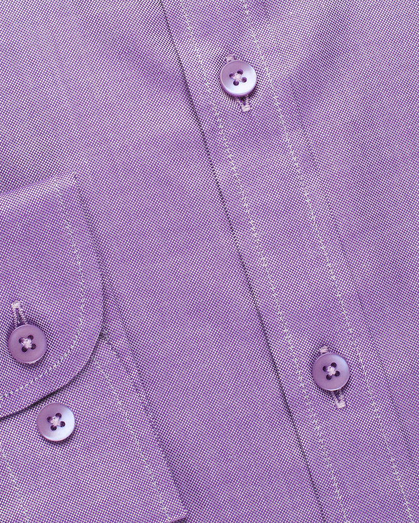 Narrow Collar Shirt - Lavender