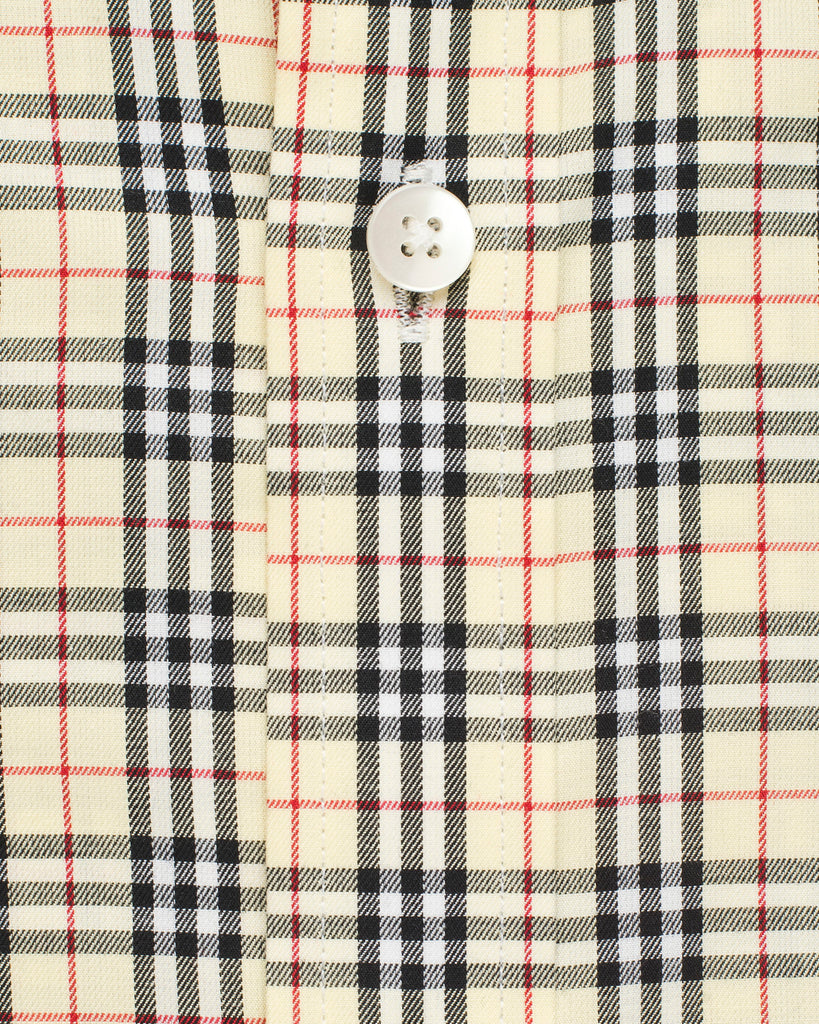 Standard Button Down Collar checked Shirt - Yellow/Black