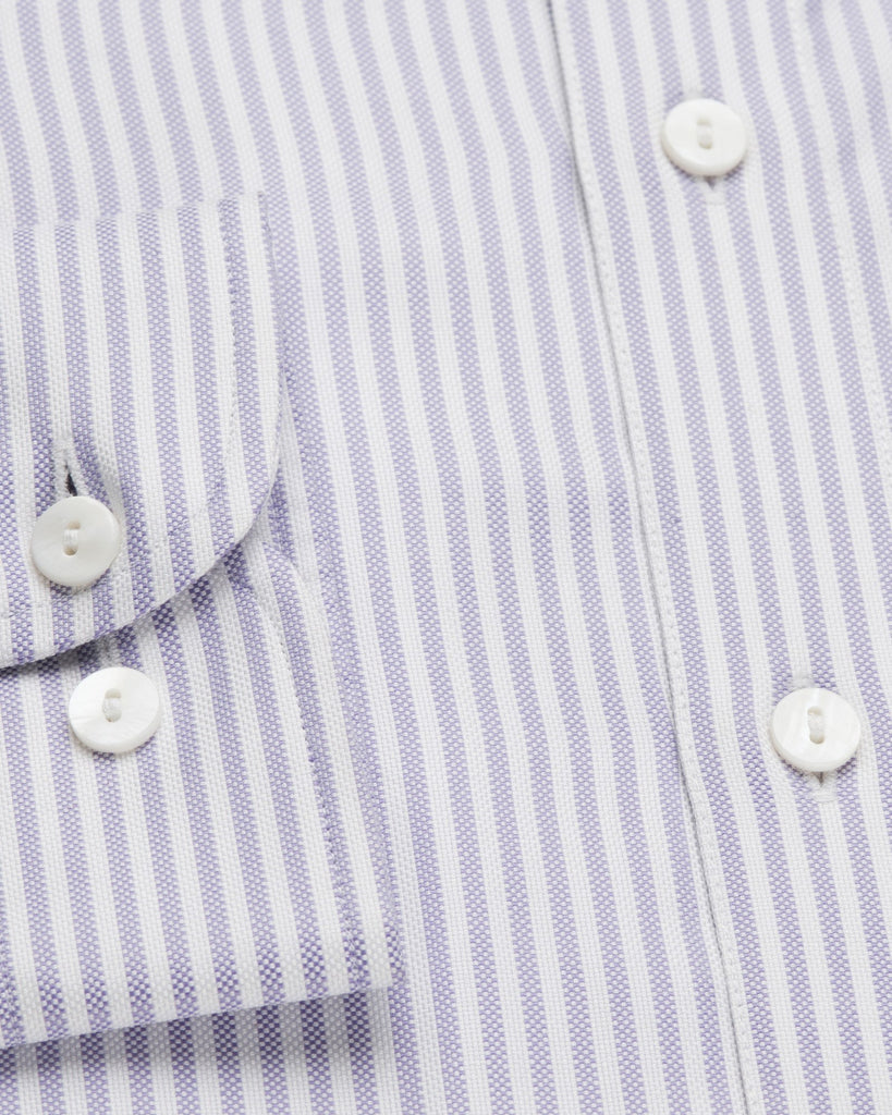 Business Casual Shirts - Bengal Stripe Oxford - Purple