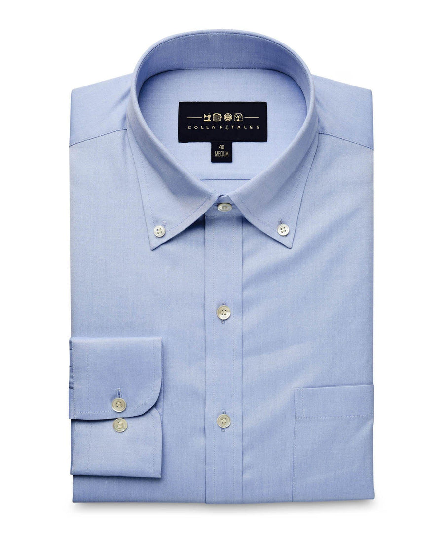 Business Casual Shirts - Blue Oxford Button Down