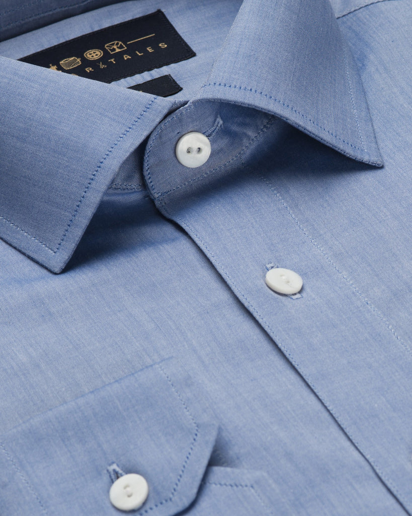 Business Casual Shirts - Chambray - Blue
