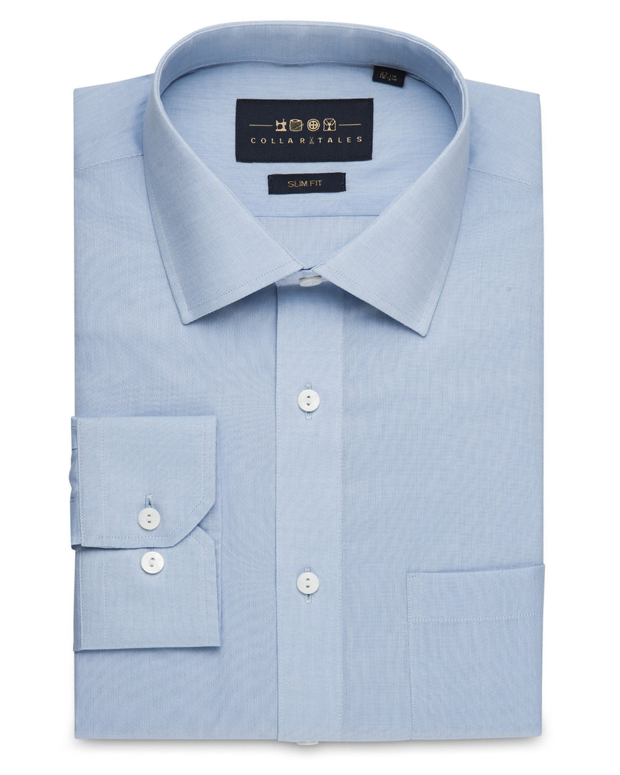 feb82613a57 Business Casual Shirts - Chambray - Sky Blue ...