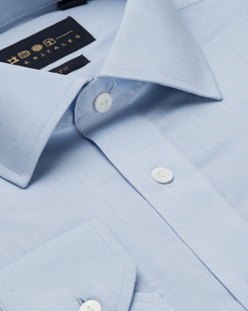 Business Casual Shirts - Chambray - Sky Blue