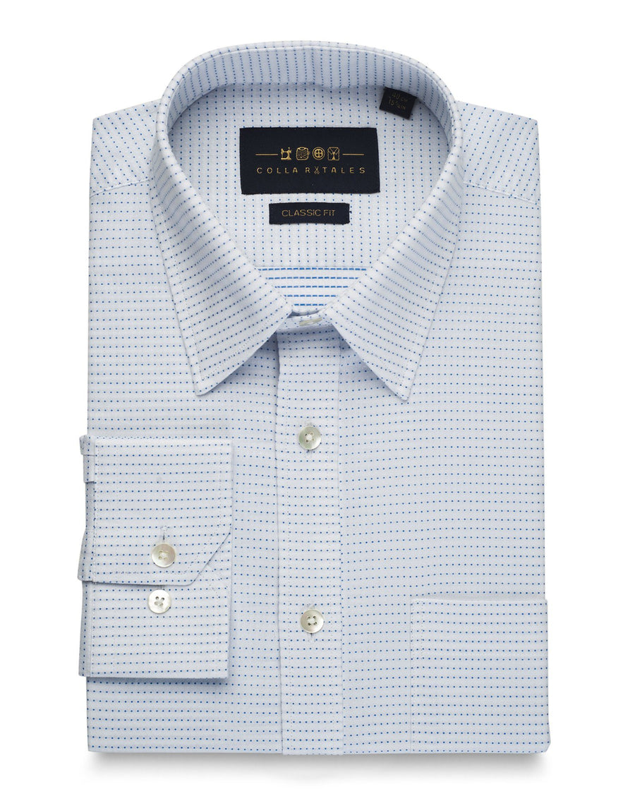 Business Casual Shirts - Harrison Pinpoint White Shirt