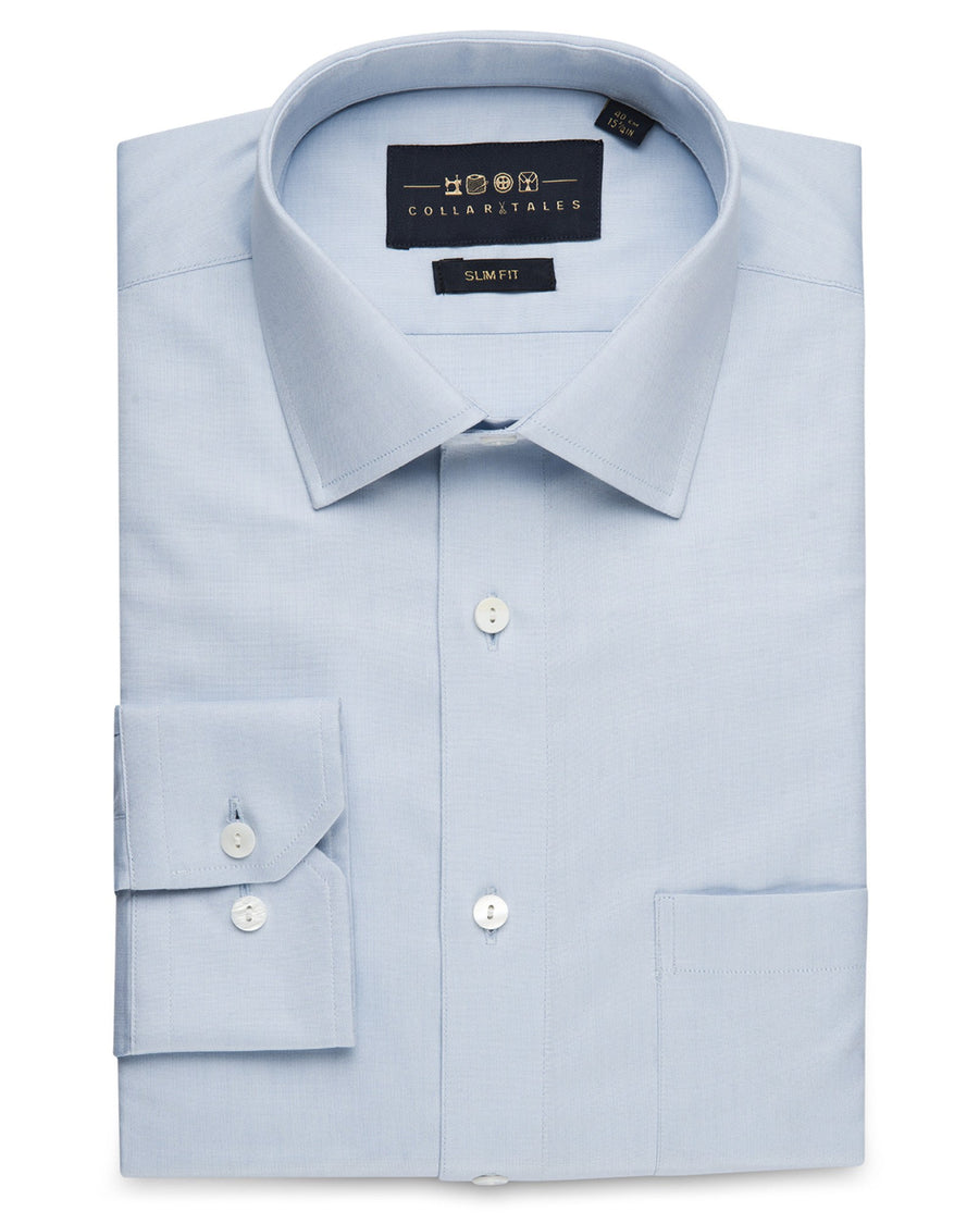 Business Casual Shirts - Pin Point Oxford - Blue