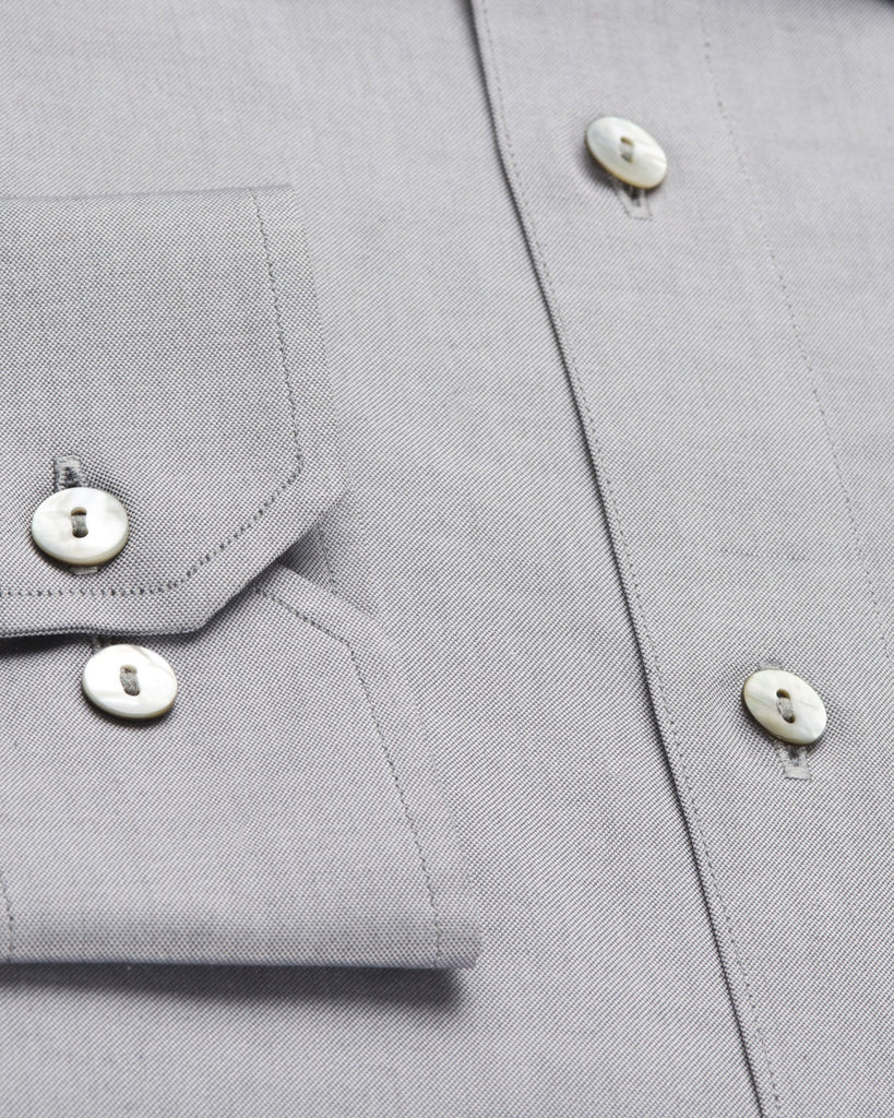 Business Casual Shirts - Pin Point Oxford - Grey