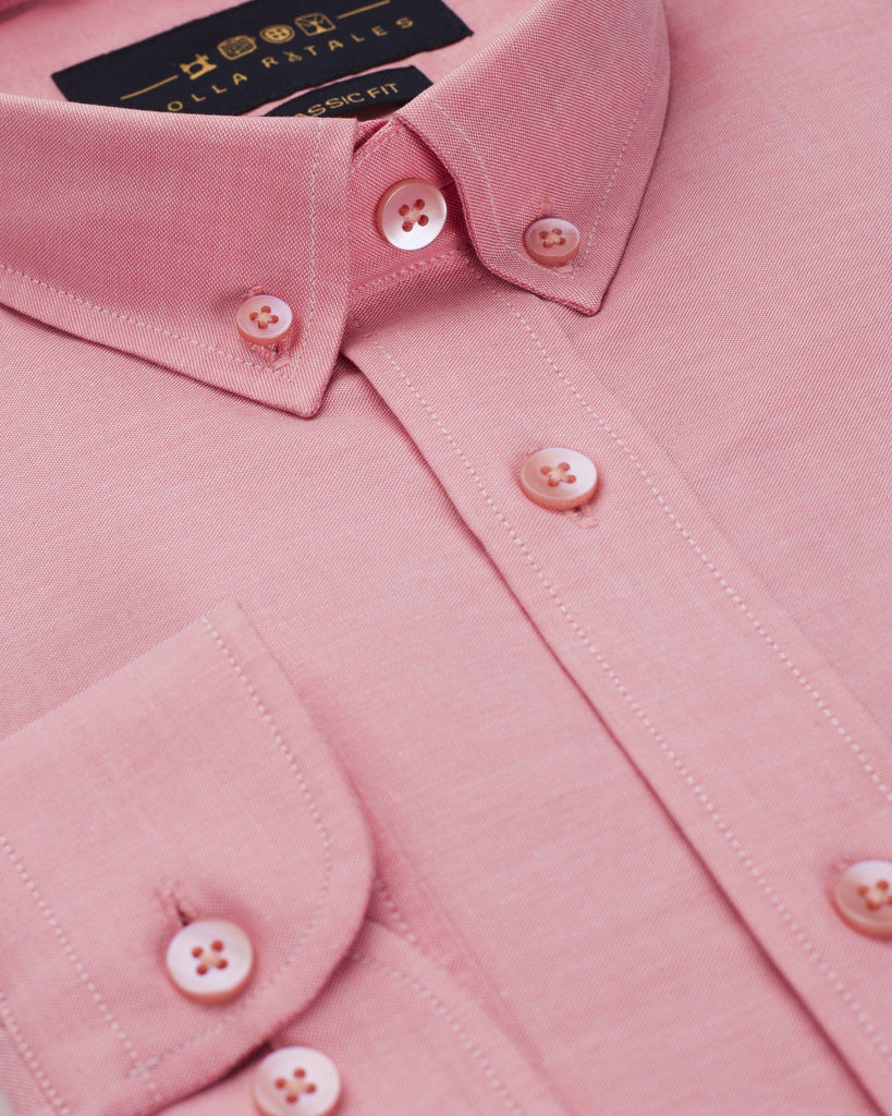 Business Casual Shirts - Salmon Oxford Button Down Shirt