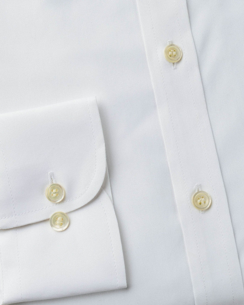 Business Casual Shirts - White Oxford Button Down