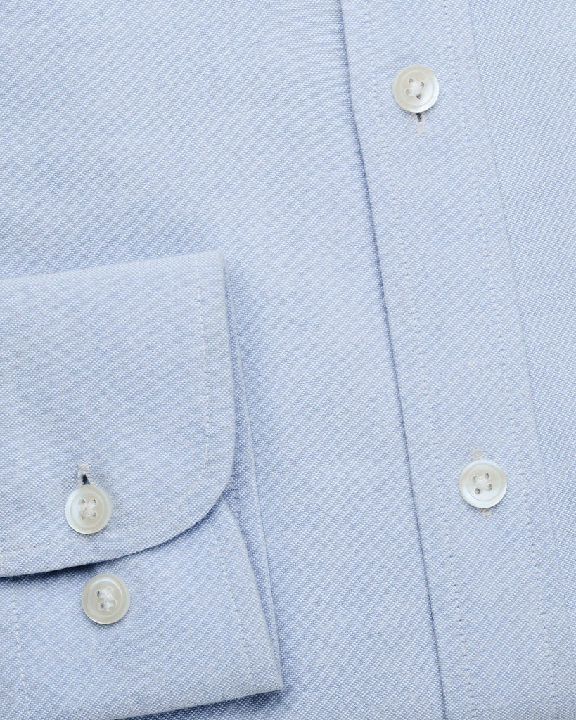 Casual Shirts - Blue Casual Button Down Oxford