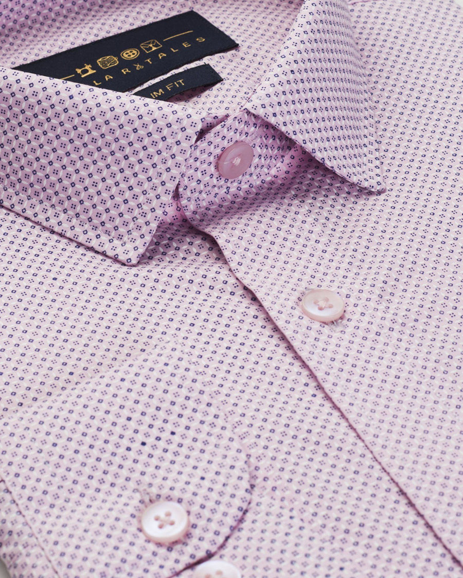 Casual Shirts - Melrose Pink Printed Shirt