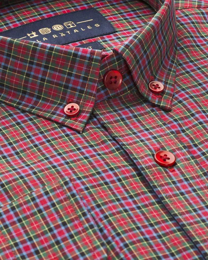 Casual Shirts - Red And Olive Jermyn Multi Check
