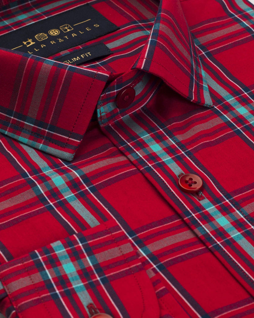 Casual Shirts - Warren Red Plaid Shirt