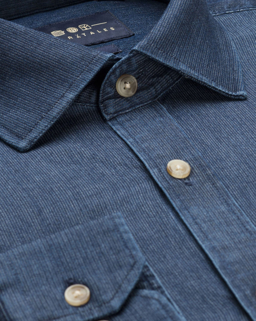 Casual Shirts - Washed Cord Denim Shirt - Dark