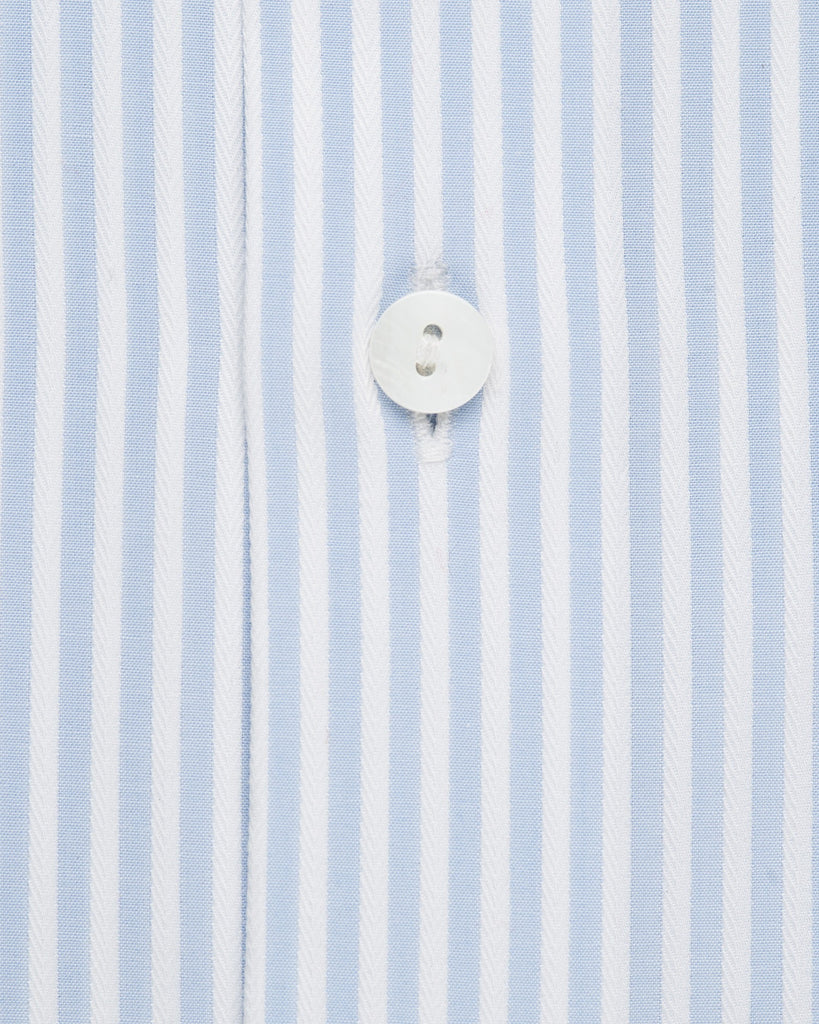 Dress Shirts - Blue And White Bengal Stripe