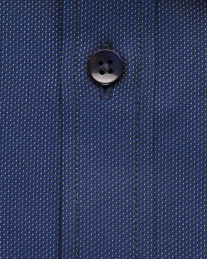 Dress Shirts - Blue Dobby Union Shirt