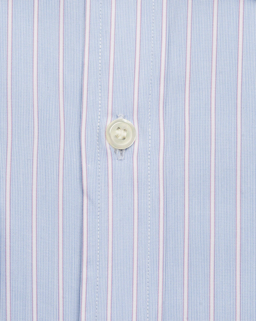 Dress Shirts - Coral Blue & Lilac Shirt( 40 & 42 Only)