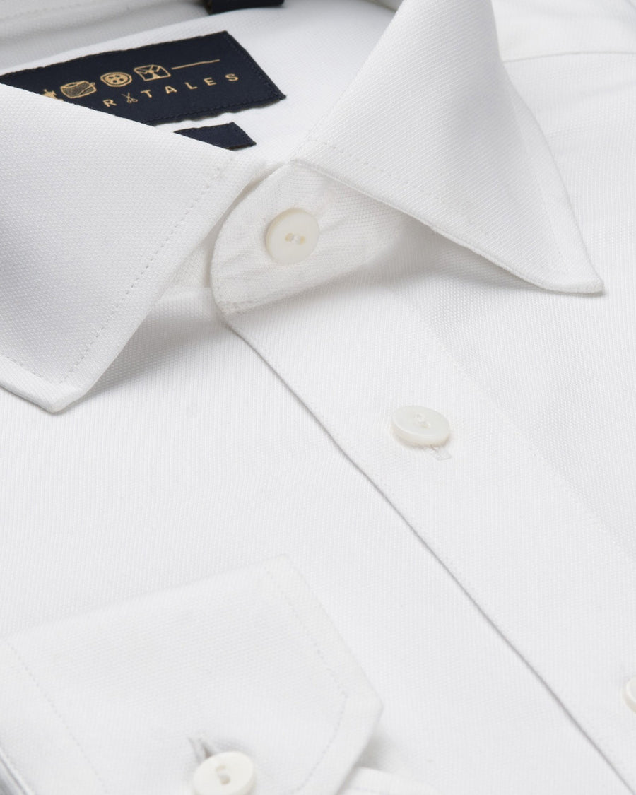 Dress Shirts - Dobby Shirt - White