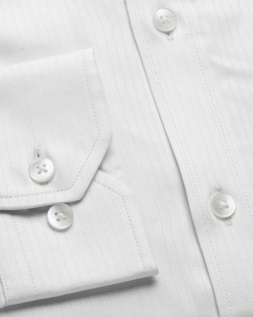 Dress Shirts - Dobby Stripe - White