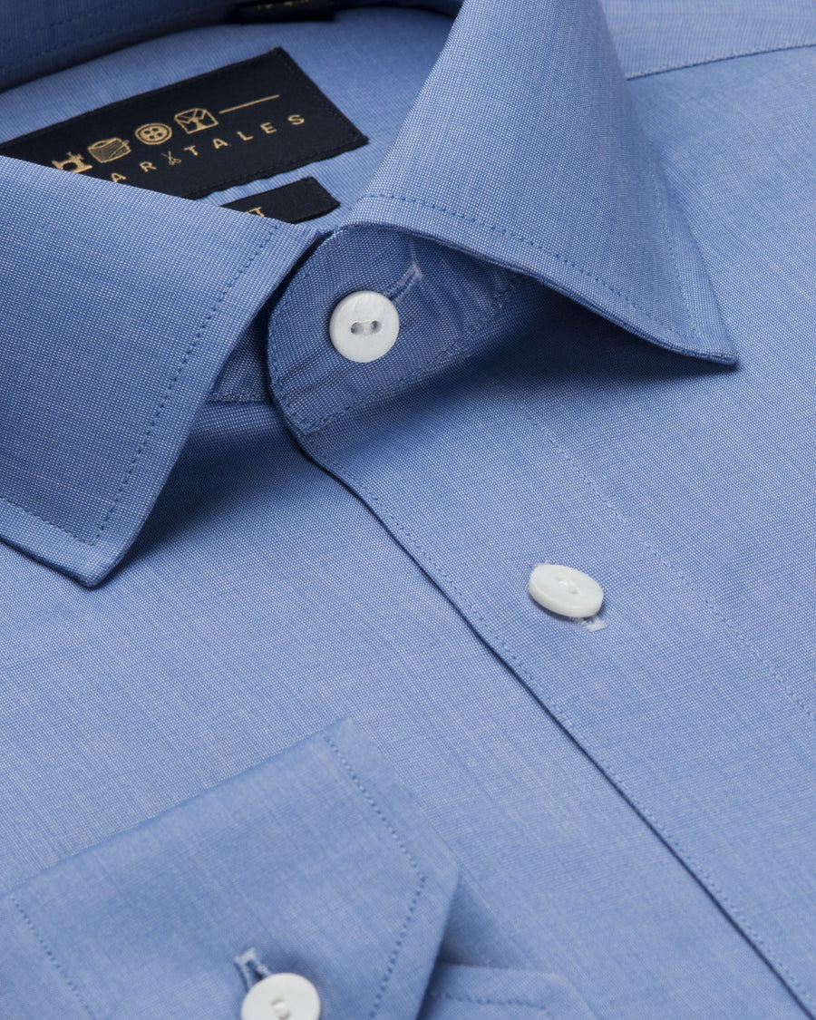 Dress Shirts - End-on-End - Blue