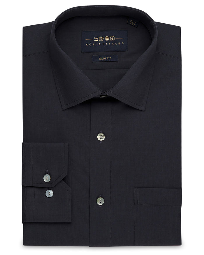 Dress Shirts - End-on-End - Charcoal