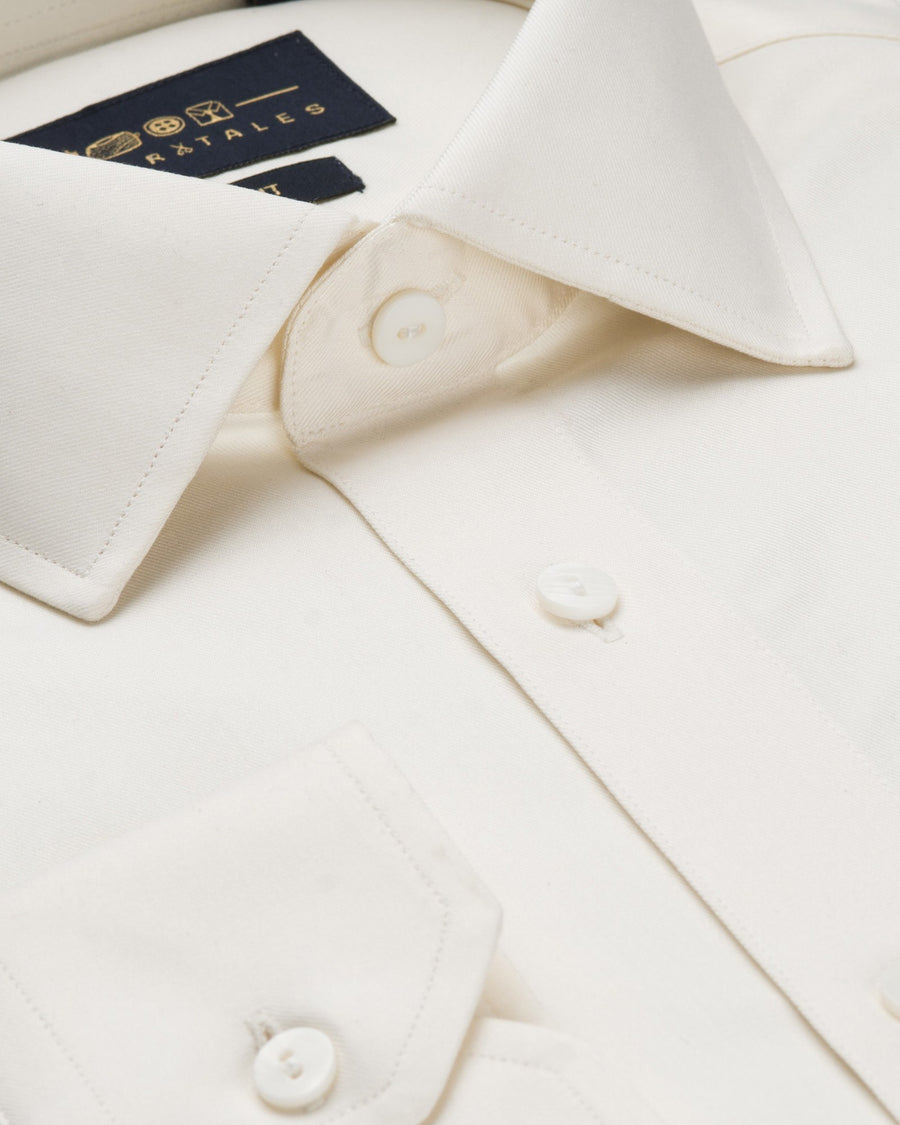 Dress Shirts - Fine Twill - Cream