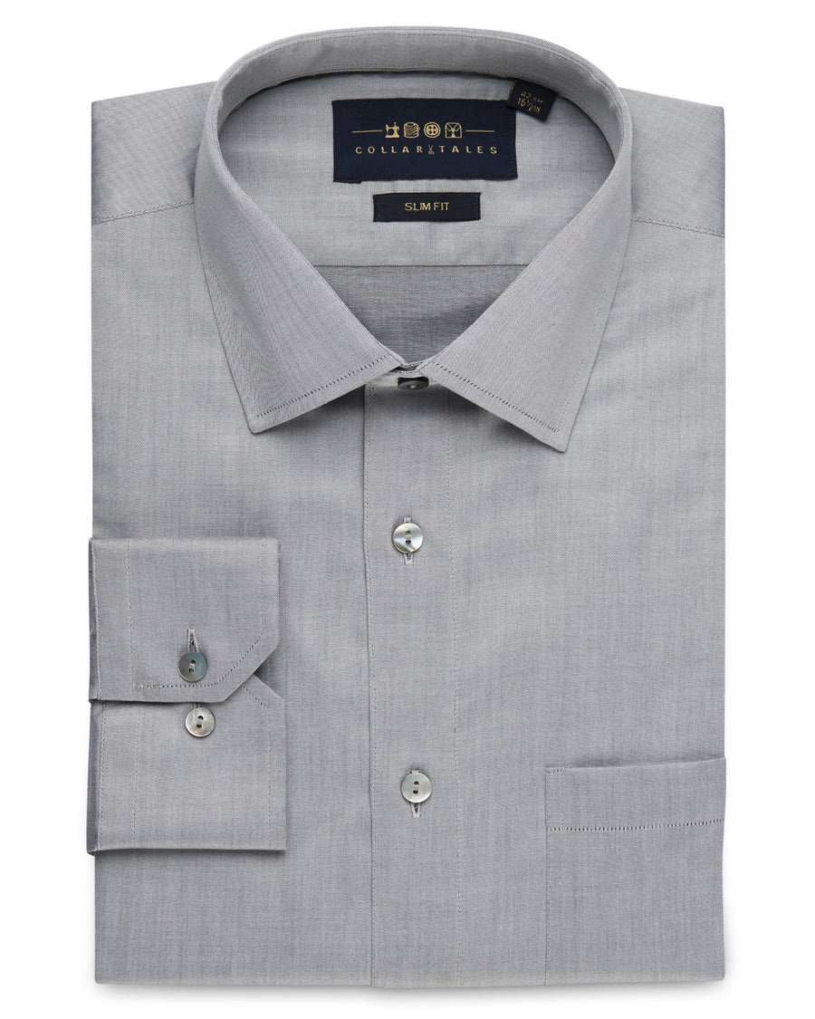 Dress Shirts - Fine Twill - Grey