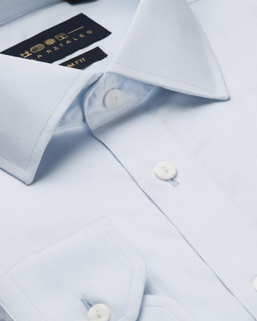Dress Shirts - Fine Twill - Light Blue
