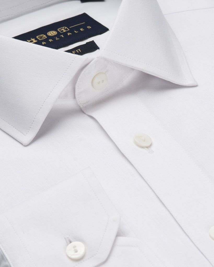 Dress Shirts - Fine Twill - White