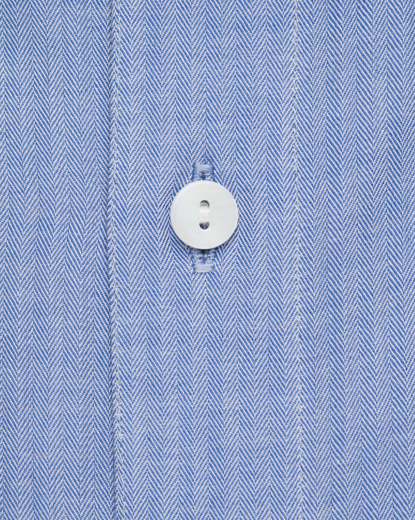 Dress Shirts - Herringbone - Royal Blue